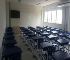 Uma das novas salas de aula do Campus Paulo Freire (crédito: Eduarda Lopes)
