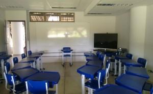 Uma das salas de aula no Campus Sosígenes Costa (crédito: Victor Porto)