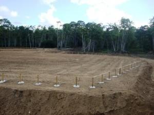 Locação da obra para início da fundação do Núcleo Pedagógico (crédito: Cláudio Souza)