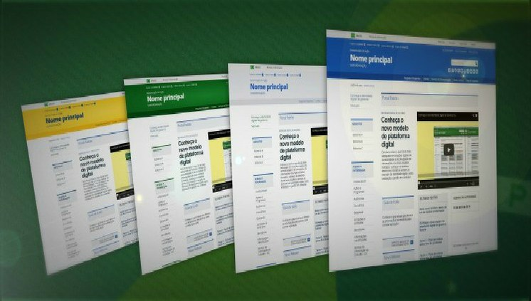 Site Secom, Portal do Planalto e Portal Brasil adotam nova identidade digital